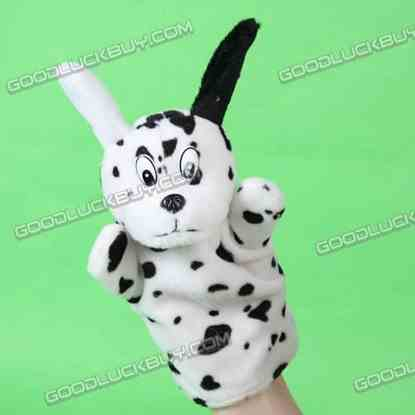 Spotted Dog Hand Sock Puppet Preschool Child Plush Toy Cute