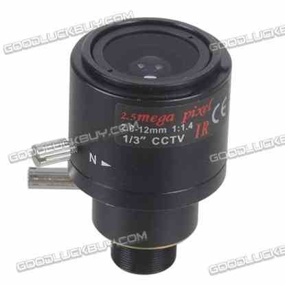 """1/3"""" 2.8-12mm Manual Focus Zoom Lens for CCTV Security Color Camera"""