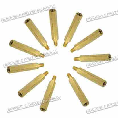 Brass Hexa Stand-off Pillar Male-Female Spacer M4*8 +6 20-Pack