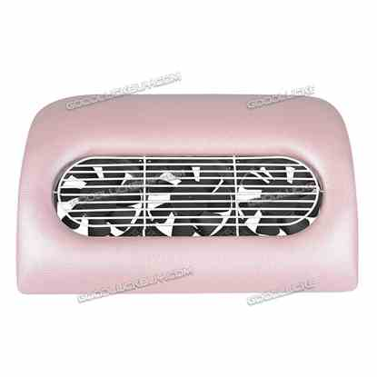 15W Nail Drill Art Dust Suction Collector Manicure File Acrylic Gel Machine Tip Pink