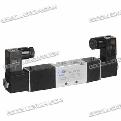 "4V130C-06 DC24V 3 position 5 way 1/8"" Air Pneumatic Solenoid Valve"