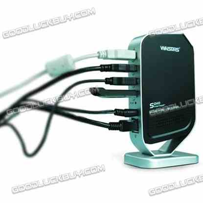 Monoprice Networking 4 Port USB 2.0 Print Server - Share 4 USB Devices