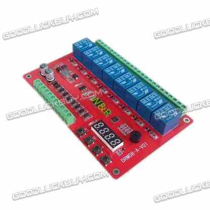 DRM08 8 Channel Multifunction Relay Module 8-36V Wide Voltage Supply