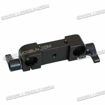 1/4'' Thread Dual Hole Dia.15mm Parallel Rod Clamp for DSLR Camera Rig Rail Support