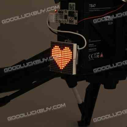 Decorative Light Taillight Heart-Shape Pattern for DJI Inspire 1