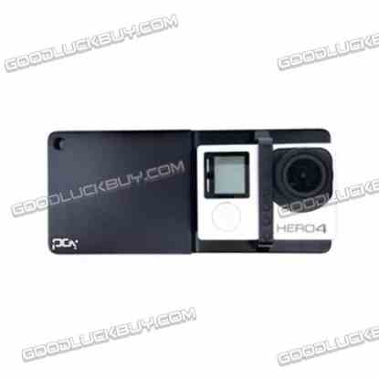 PGY Gopro Sport Camera Adaption Board Adapter for Phone Handheld Gimbal Stabilizer Black