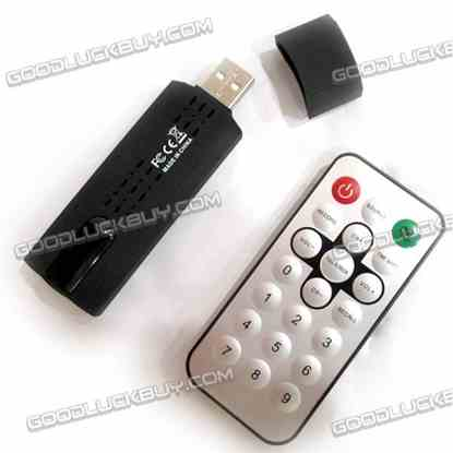 Mini Remote USB Digital HDTV DVB-T Digital TV Stick Tuner Receiver Recorder Win7