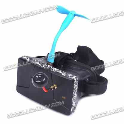 "4.3"" HD Wireless FPV Video Glasses Goggles with 32CH Receiver"