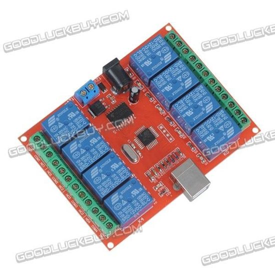12V 8CH PC USB Control Switch Relay Module PC Smart Controller