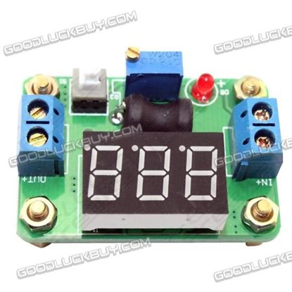 DC-DC Synchro Rectify Power Supply Module Convertor Voltmeter w/3 Bits Digital Display