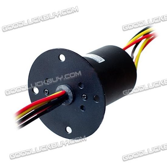 500RPM Dia.56mm 6Wires 30A Micro Conductor Slip Ring 380 VAC/DC