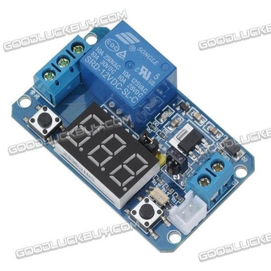 12V IR Remote Control Multifunction LED Display Time Delay Relay Module