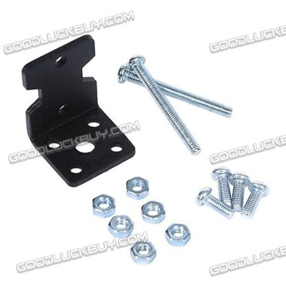 TT Motor Aluminum L-shape Motor Mount Bracket Holder Black 4pcs/Pack