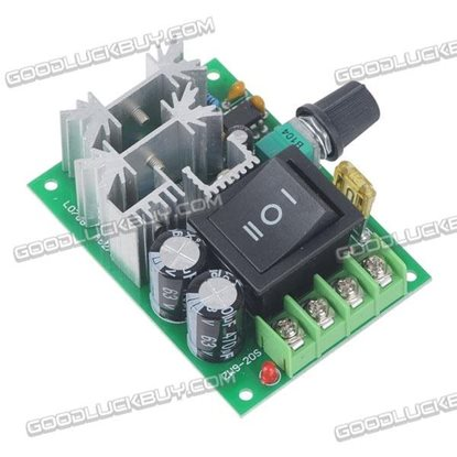 10-60V 20A PWM DC Motor Driver Speed Controller with Switch CW/CCW Rotation Support