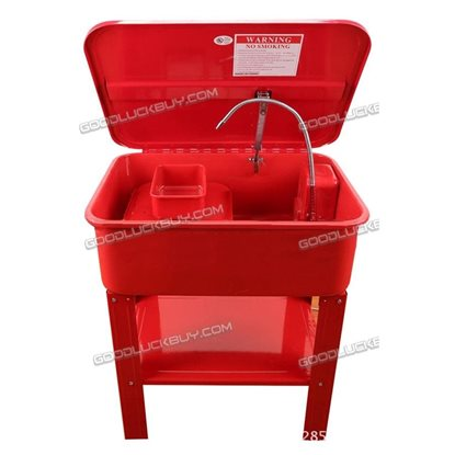 20 Gallon Automotive Parts Washer Cleaner Heavy Duty Electric Solvent Pump Red