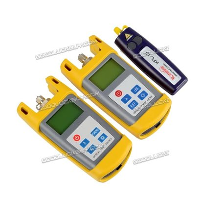 KomShine KLT-25M-F OPM Fiber Optic Loss Tester Tool Kit Optical Fiber Identifier