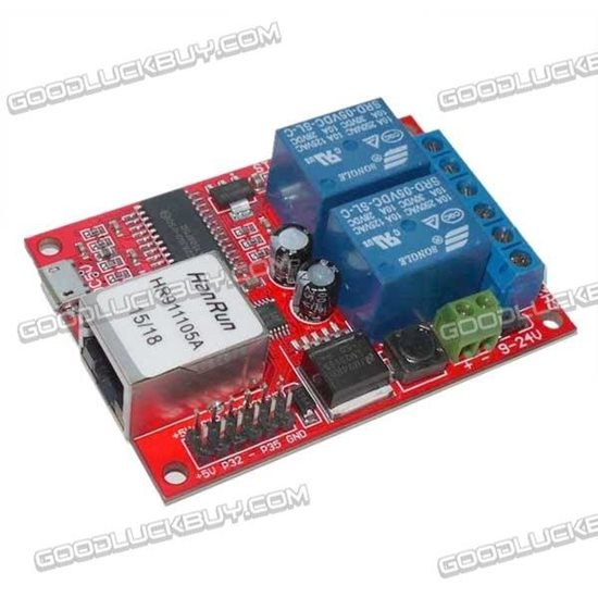 2 way Ethernet Relay Network Switching Delay TCPUDP Module Controller