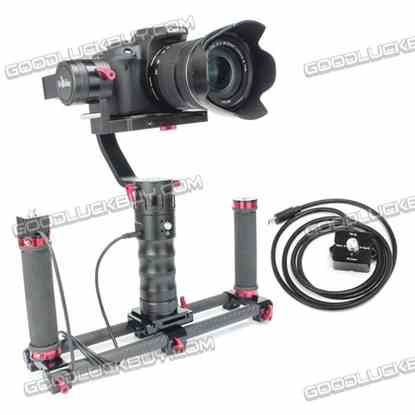 Beholder DS1 3-Axis Handhled Gimbal Stabilzier Camera Mount with D2 Dual Handheld Holder&Remote for Canon 5D 6D 7D DSLR