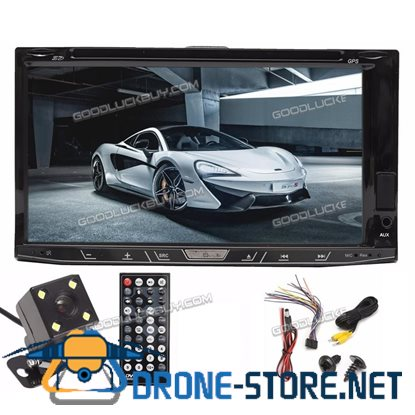 7'' 2 Din In Dash Car Stereo DVD Media Player Bluetooth MP3 FM AUX + Free Camera