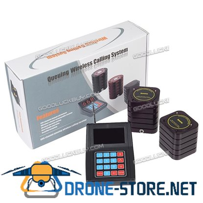 10 Restaurant Coaster Pagers Guest Call Wireless Paging Queuing Calling Sysem SU-669