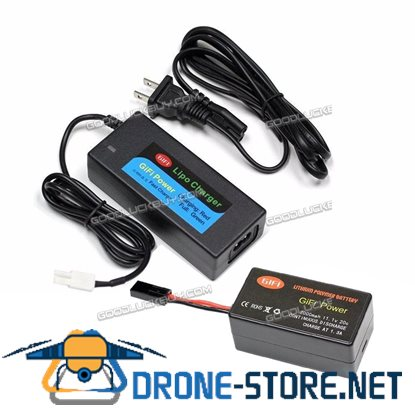 LiPo BATTERY Upgrade 2000mAh 11.1V 20C + Charger for PARROT AR.DRONE 2.0
