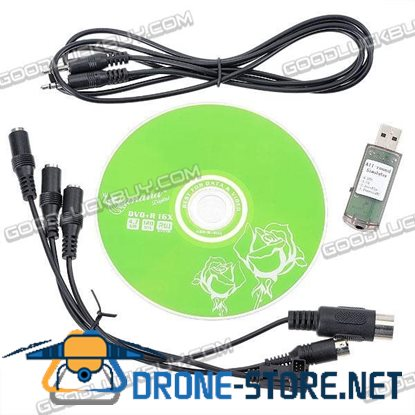 USB Flight Simulator Phoenix RC XTR G4 AeroFly Cable for RC Helicopter