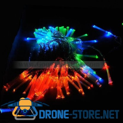 100 LED Decorative Holiday Fibre Optic Lights RGB 220V AC