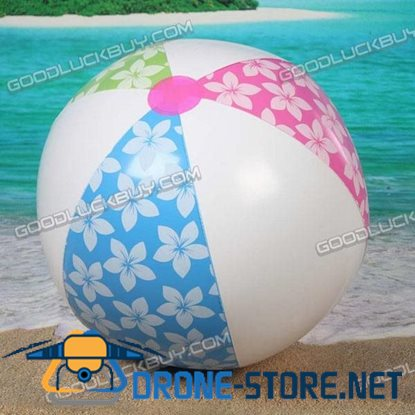"9"" Inflatable Toy Beach Ball Inflate Pool Happy Flower Ball (2-Pack)"