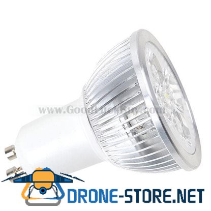 110-220V GU10 4x1W 4 LED White Light Spotlight Lamp Bulb