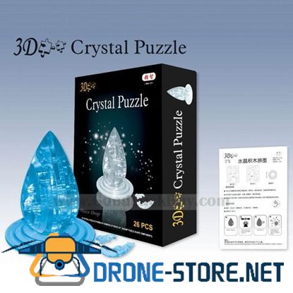 3D Crystal Furnish Water Drop Jigsaw Puzzle IQ Gadget Games 2color