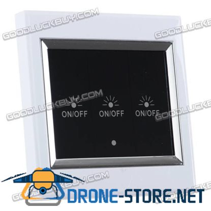 3-Way Wireless Remote Control LCD Touch Wall Switch 3CH