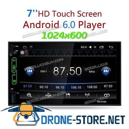 "7"" RK-A705 Quad Core Android 6.0 WIFI 2 DIN Car Radio Stereo MP3 Player GPS + Camera"