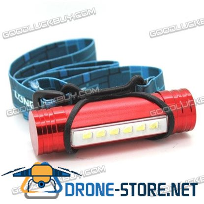 LT-XL80 Rechargeable 3 Modes 6LEDs 2 in 1 LED Flashlight Torch 1200lm Red
