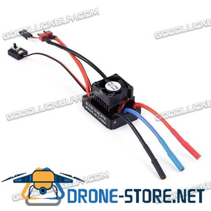 1:10 Brushless 60A ESC Electric Speed Controller with Fan for RC Cars Models