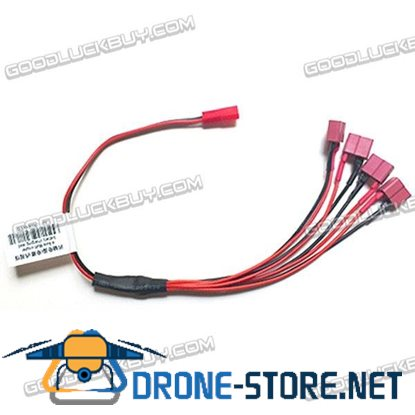 1 to 4 JST Port to Deans Port Battery ESC Connection Cable 30cm
