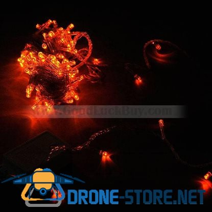 100 LED 10M Party String Christmas Rope Light Orange (8-Mode 220V AC)