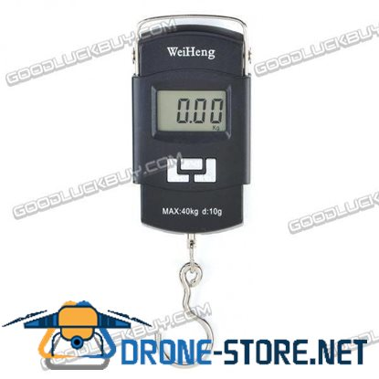 """1.4"""" LCD Precision Portable Digital Electronic Weighting Hook Scale (40kg Max / 10g Resolution)"""