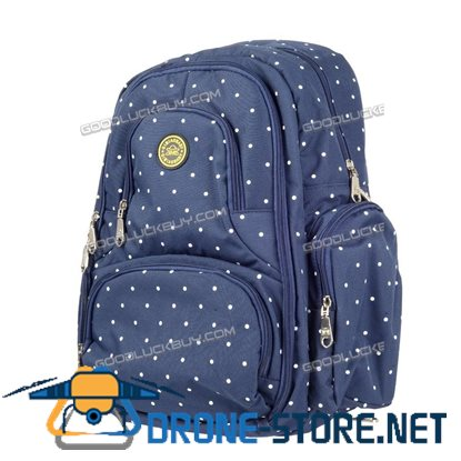 Nappy Mother Mummy Backpack Diaper Bags Baby Newborn Pad Changing Shoulder Bag Blue