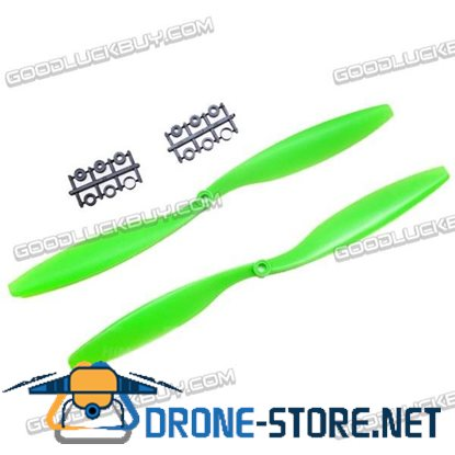"GEMFAN 12x4.5"" 1245 1245R CW CCW Propeller Green For MultiCopter 2 Pairs"