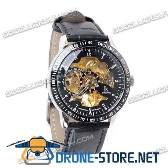 IK Colouring Automatic Mechanical Men Wrist Watch (Leather Strap) 98226