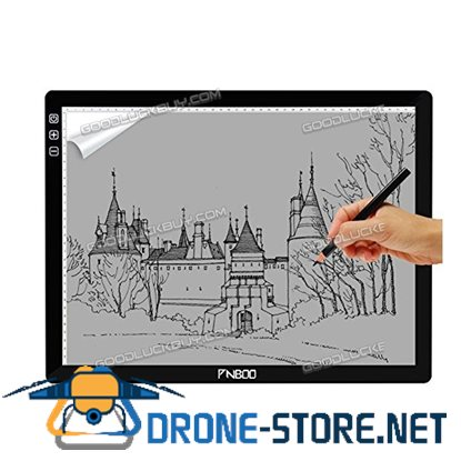 "PNBOO PA4 18"" 12W Tracing Light Box Pad Graphics Tablet LED Drewing Board"