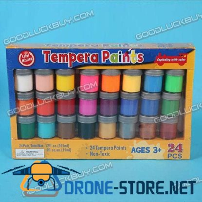 24 Colors Watercolor Tempera Paints Dope for Painting