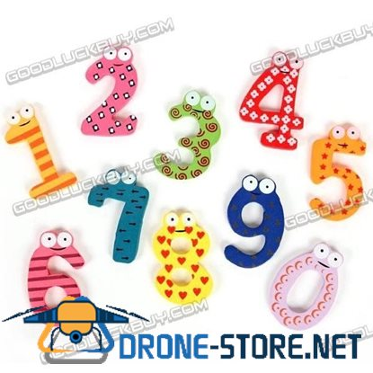 Fridge Refrigerator Decor Arabic Number Magnet Sticker Toy 10 Pcs