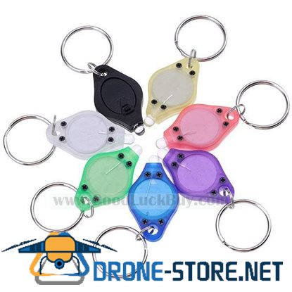 7x Colorful Bright White LED Flashlight Keychain Assorted Color(7-Pack)