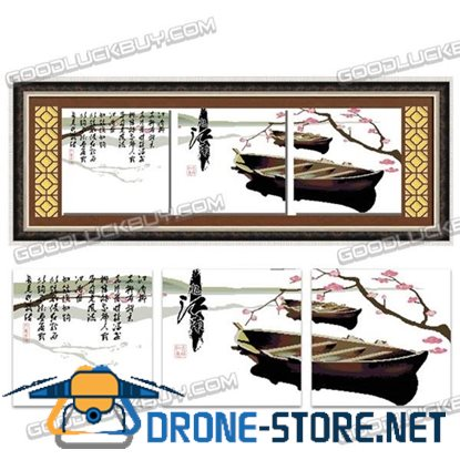 159cmx54cm Cross-Stitch Embroidery Kit for Living Room Decoration (Watertown Memory)