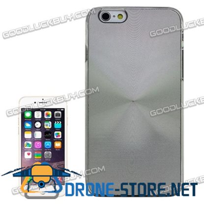 Metal Sheet CD Texture Paste Crystal Frame Case Gray for iPhone 6