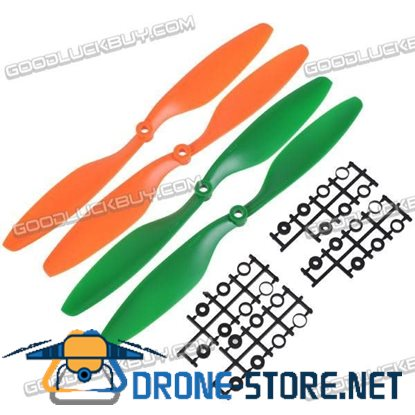 "10x4.5"" 1045 1045R Counter Rotating Propeller For MultiCoptor 2 Pairs(Orange+Green)"