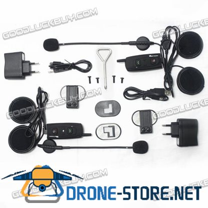 Vnetphone V2-1200 BT Bluetooth Motorcycle Helmet Interphone Intercom 1200M 2pcs
