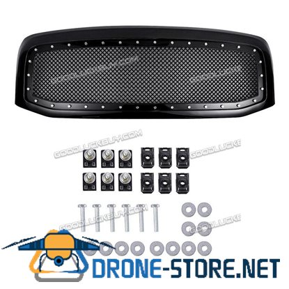For 2006-2008 Dodge Ram 1500 2500 3500 ABS Wire Mesh Front Grille W/ Shell