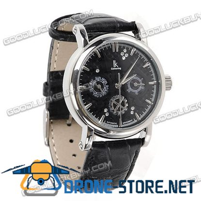 IK Colouring Automatic Mechanical Men Wrist Watch (Leather Strap) 98128